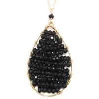 Sobella Jewelry Black Spinel Layered Necklace Gold Filled