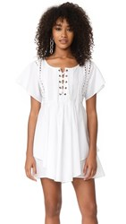 Marissa Webb Shona Lace Up Dress White