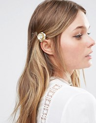 Love Rocks Rose Hair Clip Gold