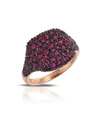 Marco Moore Ruby And 14K Rose Gold Cocktail Ring