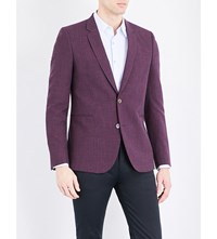 Paul Smith Checked Wool Blend Blazer Blue Red
