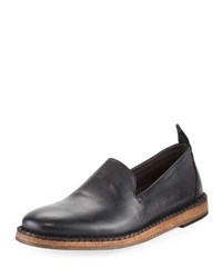 John Varvatos Zander Leather Slip On Loafer Black