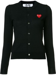 Comme Des Garcons Play Heart Patch Cardigan Black