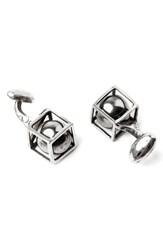Title Of Work Sphere In Cube Cuff Links Silver
