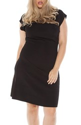 Slink Jeans Plus Size Women's Cap Sleeve Knit A Line Dress