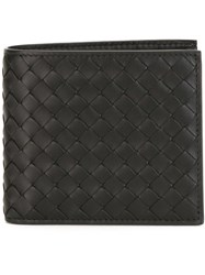 Bottega Veneta Woven Billfold Wallet Black