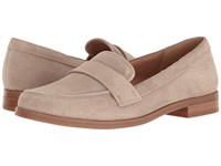 Franco Sarto Valera Satin Taupe Suede Women's Slip On Dress Shoes Tan