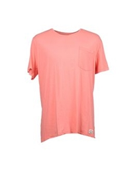 Suit Short Sleeve T Shirts Salmon Pink