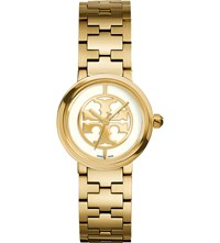 Tory Burch Reva Gold Toned Stainless Steel Watch Enamel