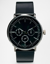 Asos Watch With Metal Face And Black Strap