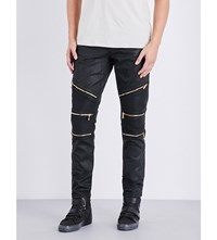 Embellish Bundy Skinny Zip Detail Jeans Black