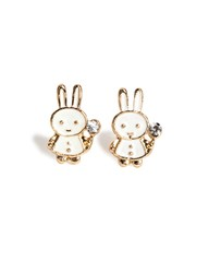 Pixie Market Mini Bunny Rabbit Stud Earrings