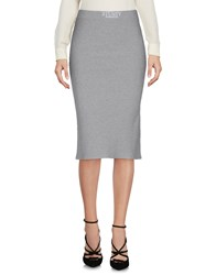 Stussy Knee Length Skirts Light Grey