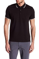 Kenneth Cole Contrast Trim Polo Black