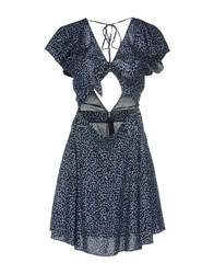 Denim And Supply Ralph Lauren Short Dresses Dark Blue
