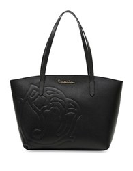 Braccialini Ninfea Leather Tote Black