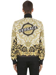 Versace Reversible Printed Nylon Jacket Black Gold