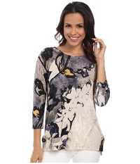 Nic Zoe Petals Tissue Tee Multi Women's Long Sleeve Pullover