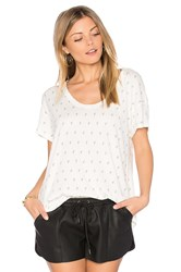 Current Elliott The Slouchy Scoop Tee White