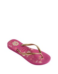 Havaianas Slim Organic Rubber Thong Sandals Raspberry