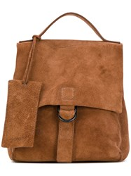 Marsell Flap Closure Backpack Women Leather One Size Brown