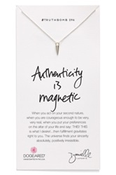 Dogeared 'Danielle Laporte Truthbombs Authenticity Is Magnetic' Necklace Metallic