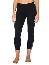 Betsey Johnson Banded Leggings Charcoal