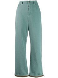 Brunello Cucinelli Chain Trim Jeans Green