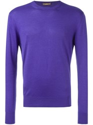 Cruciani Casual Jumper Pink And Purple