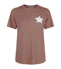 Sandrine Rose Striped Star T Shirt Pink