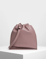 Charles And Keith Two Way Backpack Mauve