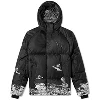 Undercover X Valentino Ufo Print Puffer Jacket Black