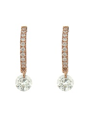 Raphaele Canot Set Free Diamond And Pink Gold Earrings