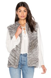 Heartloom Seren Rabbit Fur Vest Gray