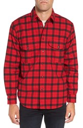Filson Men's 'Alaskan Guide' Regular Fit Check Flannel Shirt Red