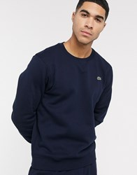 Lacoste Sport Basic Crew Neck Sweat In Navy