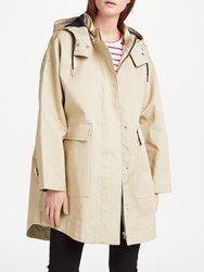 John Lewis Kin By Bonded Parka Coat Neutral
