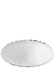 Alessi Dressed Round Serving Tray Silver