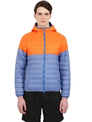 Invicta Light Nylon Puffer Jacket Blue Orange