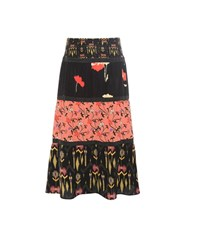 Etro Printed Silk Skirt Black