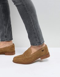 Farah Chalice Suede Loafers Beige