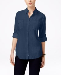 G.H. Bass And Co. Tab Sleeve Shirt Midnight