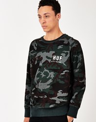 Huf Basic Training Crew Neck Sweatshirt Green
