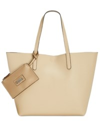 Styleandco. Style Co. Clean Cut Reversible Tote With Wristlet Only At Macy's Shell Met Cork