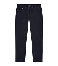 Giorgio Armani Slim Fit Silk Blend Jeans Male Blue