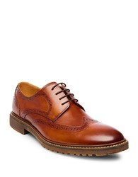 Steve Madden Leather Wingtip Oxfords Tan