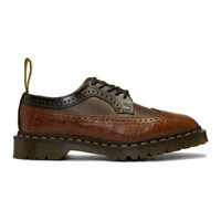 Dr. Martens Brown Engineered Garments Edition Mixed Leather 3989 Brogues