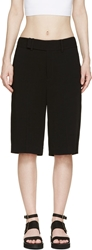 Helmut Lang Black Slouchy Torsion Shorts