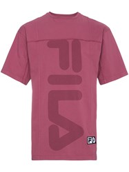 Liam Hodges X Fila Lh1 Fitness T Shirt Pink And Purple