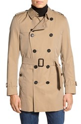 Men's Burberry London 'Kensington' Double Breasted Trench Coat Honey